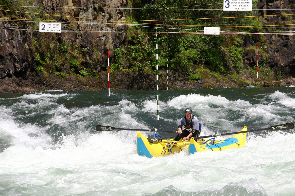 Carter Falls Rapid during the annual Upper Clackamas Whitewater Festival in May