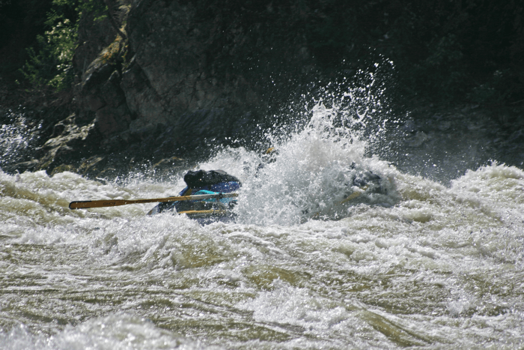 Big water at Chittam Rapid on the Salmon River