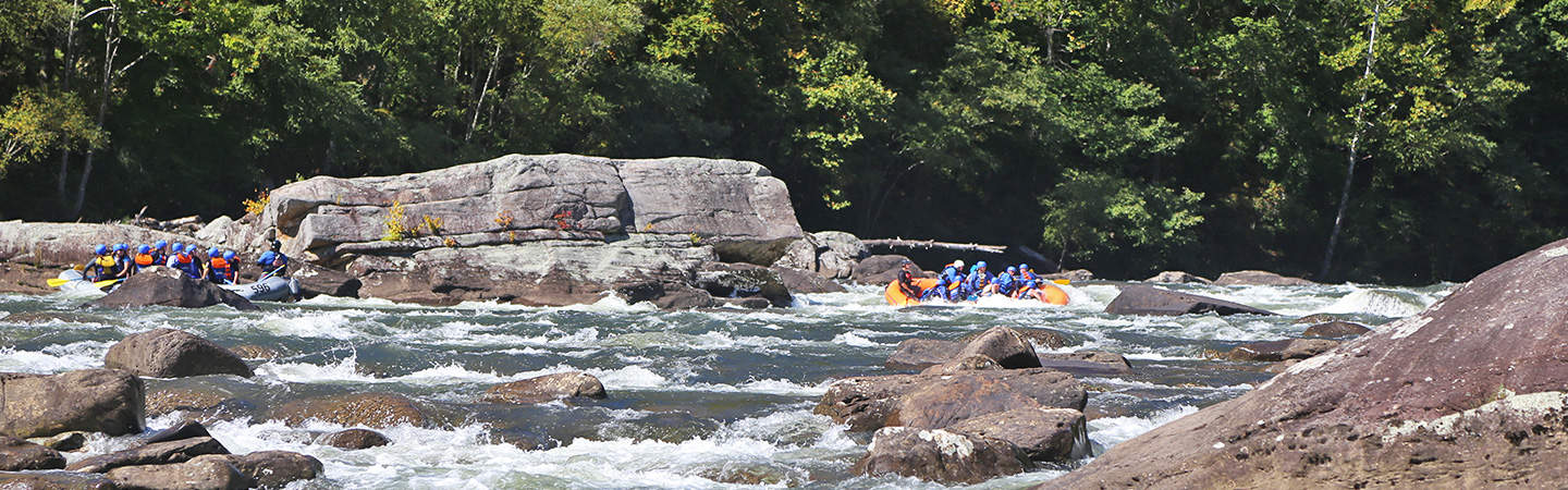Rafts in Upper Mash on the Lower Gauley River