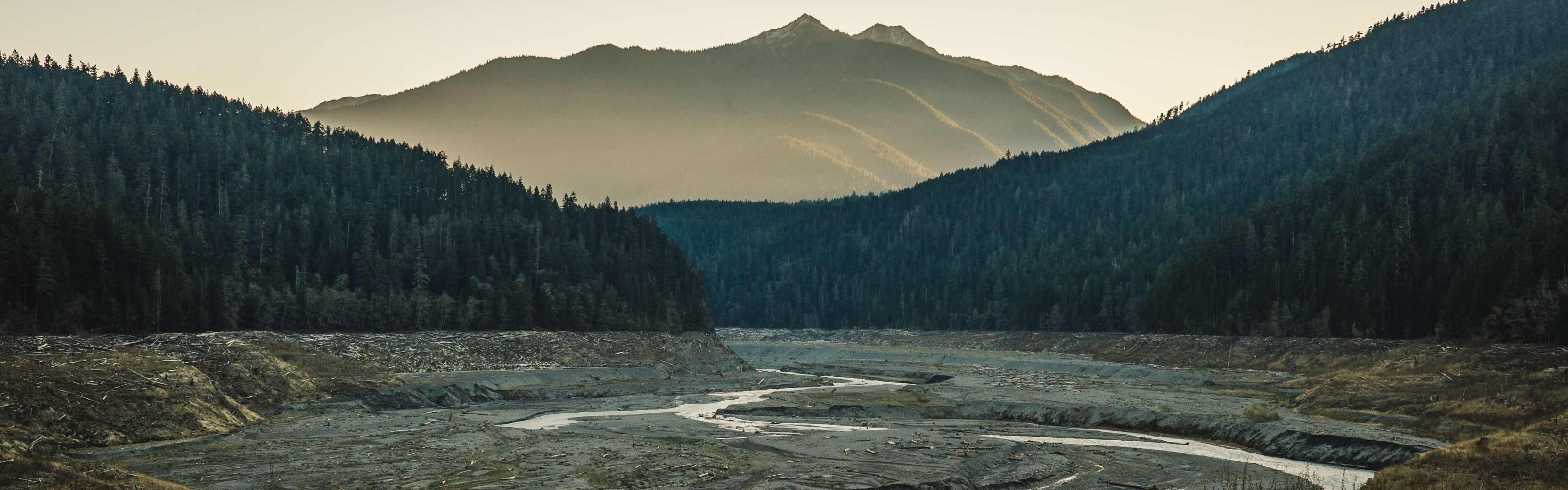 Elwha River through the Former Mills Reservoir   Photo by Nate Wilson
