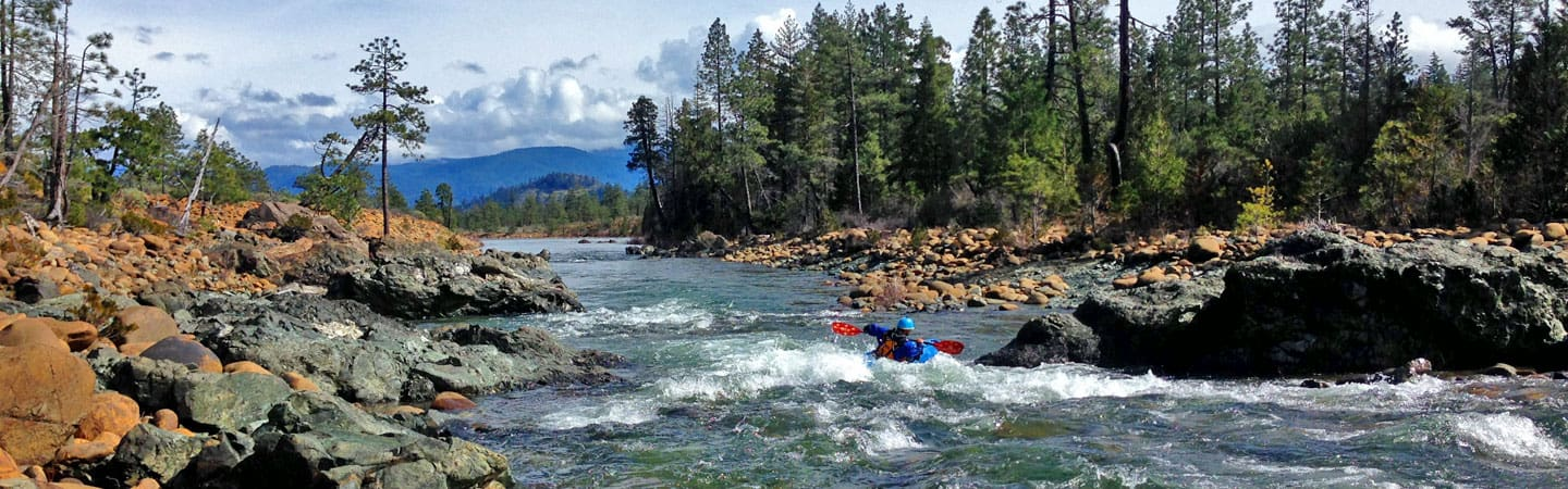 Kayaking on Rough and Ready Creek