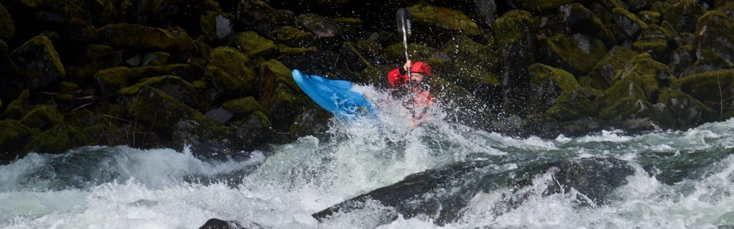 Perfect boof at Wall Rapid