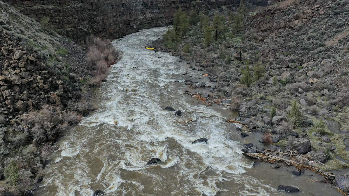 No Name Rapid on the Crooked River at 3400 cfs