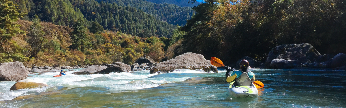 Kayaking the Upper Chamkar Chhu in Bhutan