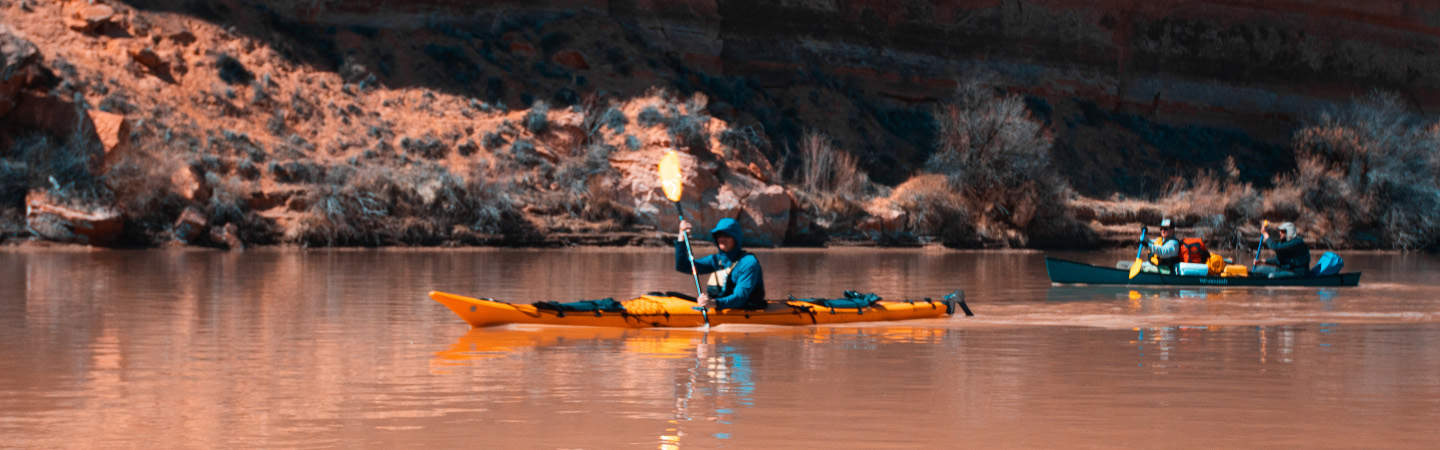 Sea kayaking is a great way to see Labyrinth Canyon. Photo by Tyler Payne.