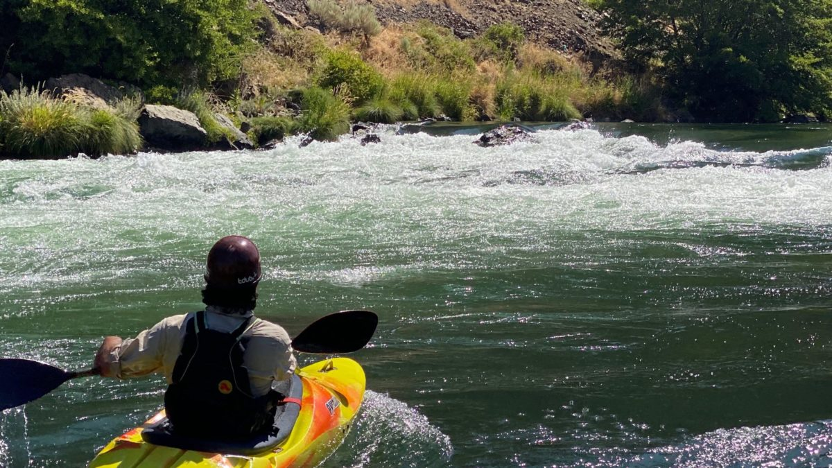 In the river-right eddy of Buckskin Mary